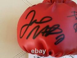 Manny Pacman Pacquiao & Floyd Mayweather Jr. Signed Everlast Boxing Glove COA