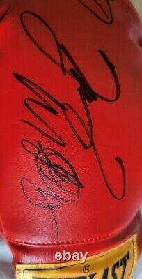 OSCAR DE LA HOYA / FLOYD MAYWEATHER JR. Autographed SIGNED Everlast Boxing Glove
