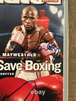Oscar De La Hoya Floyd Mayweather Sports Illustrated signed autographed BAS LOA