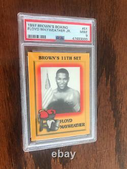 RARE 1997 ORIGINAL FLOYD MAYWEATHER JR. ROOKIE Boxing CARD PSA 9