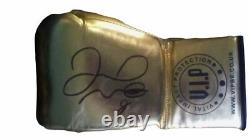 SIGNED Floyd Mayweather Jr. Gold VIP Rare Boxing Glove with Photo Proof