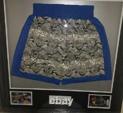 Signed Framed Floyd Money Mayweather Boxing Trunks Hatton Paquiao De La Hoya