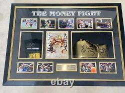 THE MONEY FIGHT Floyd Mayweather & Conor McGregor Signed Gloves In Montage