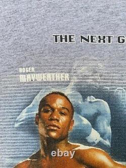 Vintage 2001 Floyd Mayweather Julio Chavez Jr Shirt Boxing Rap Tee Medium Tyson