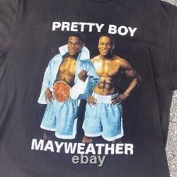 Vtg 90s Pretty Boy Floyd Mayweather Black Rap Tee Size XXL Boxing Rap T-Shirt