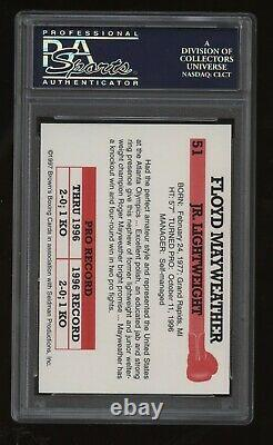 1997 Brown's Boxing 11th Set Base #51 Floyd Mayweather Jr Rc! Psa 9 Menthe! Tbe