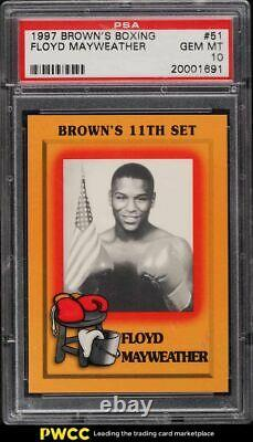 1997 Brown's Boxing Floyd Mayweather Jr. Rookie Rc #51 Psa 10 Gem Mint