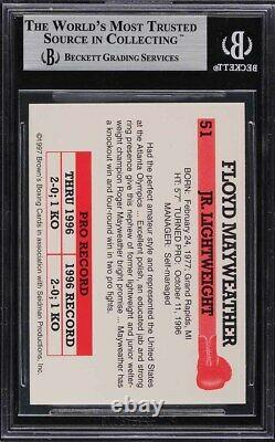 1997 Brown's Boxing Floyd Mayweather Rookie Rc #51 Bgs 9 Mint