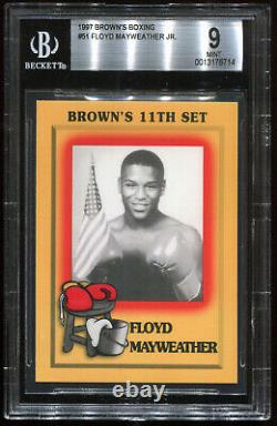 1997 Browns Boxing Floyd Mayweather Jr #51 Bgs 9 Psa Hof Hall Of Fame Rc Rookie