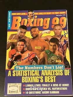 1999 Floyd Mayweather, Oscar De La Hoya Programme De Boxe Signé Jsa Early Sig