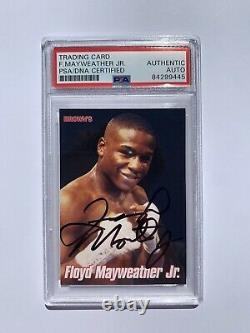 1999 Floyd Mayweather Signé Browns Bonus Card 2ème Rookie Card Psa Authentic