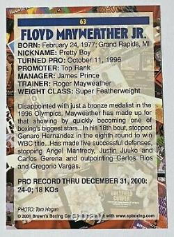 2001 Brown's Boxing Floyd Mayweather Jr Ultra Rare Card #63 Clean
