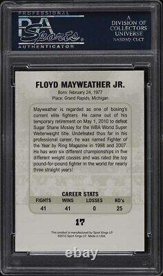2010 Ringside Boxing Round One Gold Floyd Mayweather Jr. #17 Psa 9 Mint