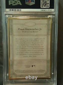 2017 Floyd Mayweather Jr Transcendant 4/15 Psa 10 Encadré Auto Silver Arms Raise