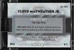 2017 Topps Dynasty Floyd Mayweather Jr. 2 Patch Couleur Sur Carte Auto 4/10. C'est Bon.