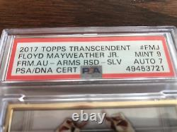 2017 Topps Floyd Mayweather Jr Gold Framed Auto Boxing Card 12/15 Psa 9 Auto 7