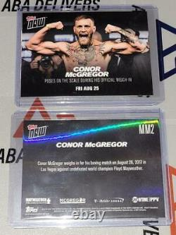2017 Topps Maintenant #mm2 Conor Mcgregor Weigh-in C. Floyd Mayweather 8.25.17 /461