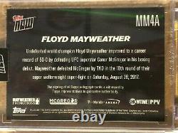 2017 Topps Maintenant #mm4a Floyd Mayweather Autographe 04/49