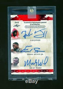 2020 Feuille Superlative Six Auto Manny Pacquiao Floyd Mayweather Jr Errol Spence 2
