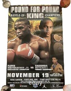 Affiche De Boxe Floyd Mayweather Livre Junior Pour Pound King Bataille Des Champions