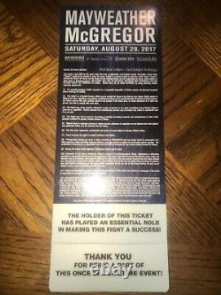 Authentique Floyd Mayweather Conor Mcgregor Ufc Boxing Vip Ticket 26/08/2017 Signé