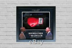 Conor Mcgregor Et Floyd Mayweather Signé Et Framed Gants De Boxe Rare Aftal Coa