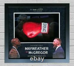 Conor Mcgregor & Floyd Mayweather Signé & Framed Gants De Boxe Rare Aftal Coa