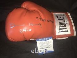 Devin Haney A Signé Everlast Boxing Glove 24-0 Suivant Floyd Mayweather Beckett #2