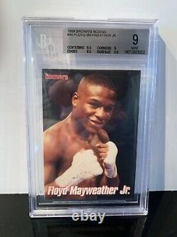Floyd Mayweather 1999 Browns 12e Set Bgs 9 Mint Super Rare! 2ème Rookie Card
