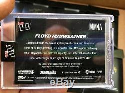 Floyd Mayweather Autograph Conor Mcgregor 2017 Défaites Topps Maintenant Mm4a Auto / 49