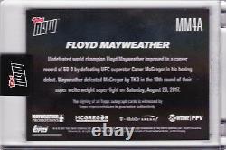 Floyd Mayweather Autograph Défaites Conor Mcgregor 2017 Topps Maintenant Mm4a Auto 49/49