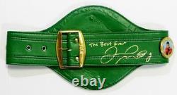 Floyd Mayweather Autographed Green Wbc Ceinture De Boxe Avec Insc Beckett Auth Gold
