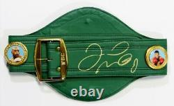 Floyd Mayweather Autographed Green Wbc Ceinture De Boxe Beckett Auth Gold