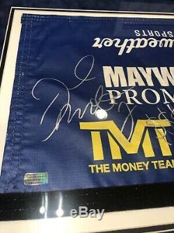 Floyd Mayweather Autographié 50-0 Enregistrement Combat Encadré Utilisé Ring De Boxe Corde Psa
