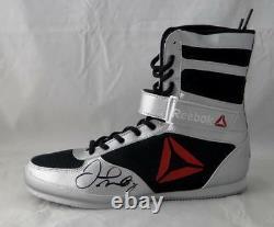 Floyd Mayweather Autographié Reebok Boxe Chaussures Gauche Beckett Bas Noir