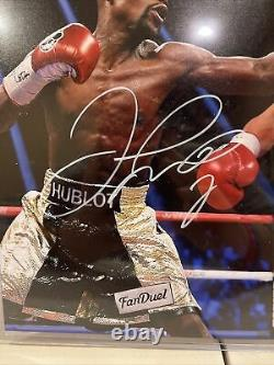 Floyd Mayweather Autographié / Signé 11x14 Vs Pacquiao Photo- Beckett Certifié