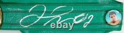 Floyd Mayweather Autographié Vert Wbc De Boxe Beckett Argent De Courroie