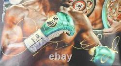 Floyd Mayweather Autographié/signé Boxing 20x24 Canvas 26372