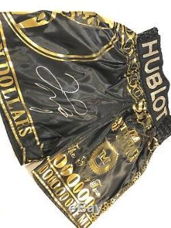 Floyd Mayweather Boxe Signé Trunks V Conor Mcgregor Avec Preuve Aftal Coa