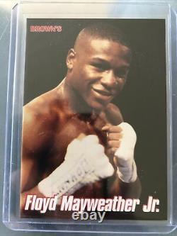 Floyd Mayweather Browns 12e Set Carte De Boxe 1999 Carte Après Sa Recrue