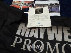 Floyd Mayweather Combat Utilisé Ring Apron À 50-0 Conor Mcgregor Avec Coa Non Signé