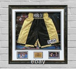 Floyd Mayweather Jnr Encadré Et Authentique Main Signée Boxing Trunks Proof Aftal Coa