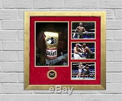Floyd Mayweather Jnr Signé Et Framed Boxe Gant Tbe Tmt Aftal Coa (l)