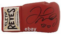 Floyd Mayweather Jr. 50-0 Signé Cleto Reyes Rouge Gant De Boxe Bas Témoin De