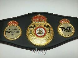 Floyd Mayweather Jr. A Signé Pleine Grandeur De L'équipe D'argent Champion Du Monde Belt Bas