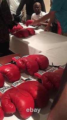 Floyd Mayweather Jr Auto Boxing Glove Beckett Coa, Signature Énorme! Affaire Steiner