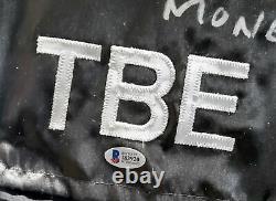 Floyd Mayweather Jr. Auto Framed Black Boxing Trunks Argent Beckett #i83920