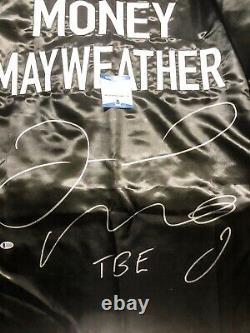 Floyd Mayweather Jr. Auto Signé Tbe Boxe Robe XL Beckett Bas Coa