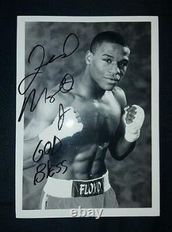 Floyd Mayweather Jr Autographe 5 X 7 Pouces Photo En Noir Et Blanc
