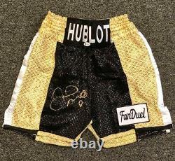 Floyd Mayweather Jr Autographe Signé Boxing Trunks Bas Coa Beckett Witness